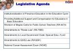 legislative agenda