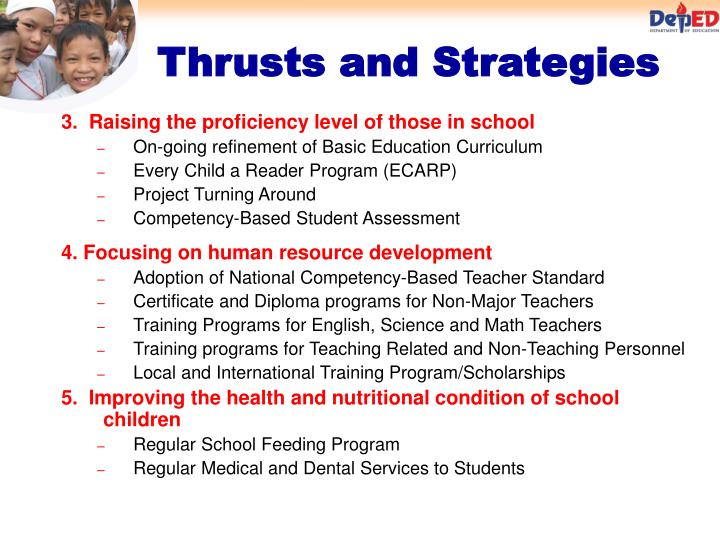 3.  Raising the proficiency level of those in school