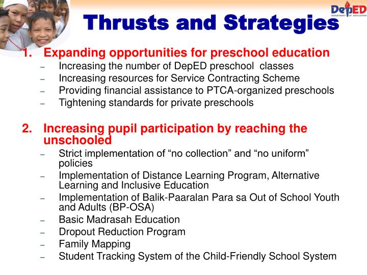 Expanding opportunities for preschool education