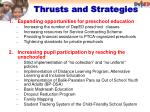 thrusts and strategies