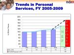 trends in personal services fy 2005 2009