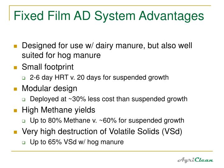 Fixed Film AD System Advantages
