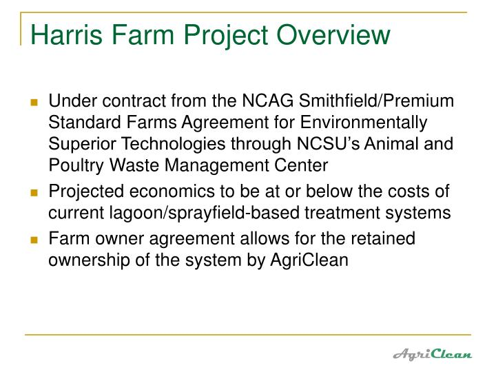 Harris Farm Project Overview
