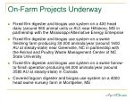 on farm projects underway