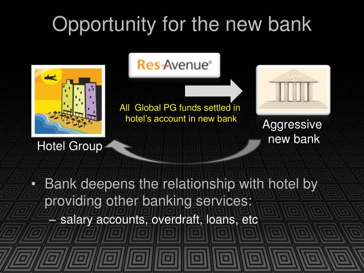 Opportunity for the new bank