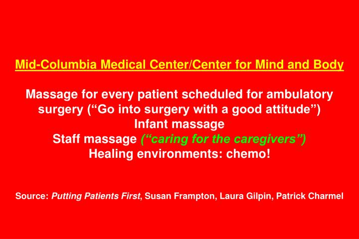 Mid-Columbia Medical Center/Center for Mind and Body