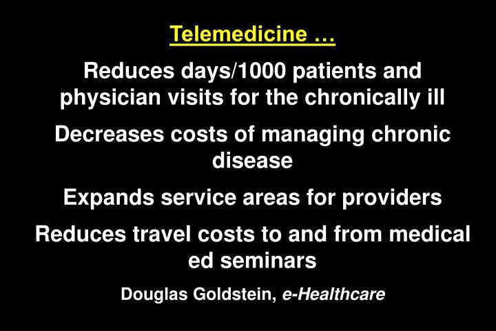Telemedicine …