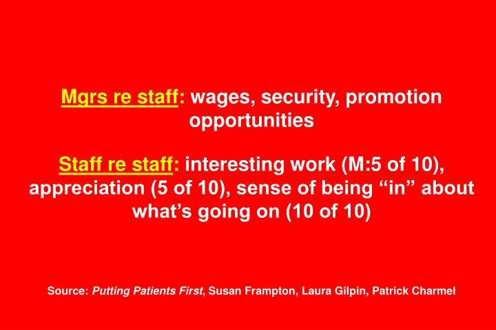 Mgrs re staff