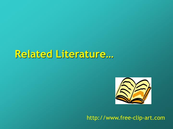 Related Literature…