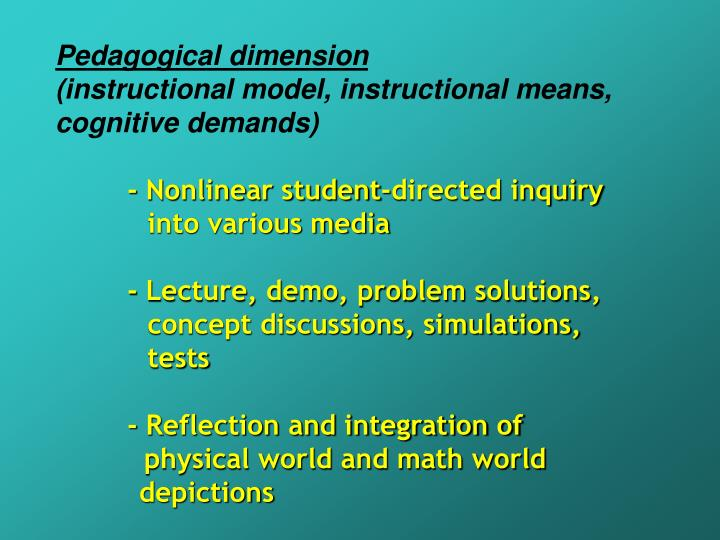 Pedagogical dimension