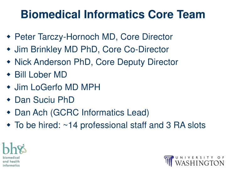 Biomedical Informatics Core Team