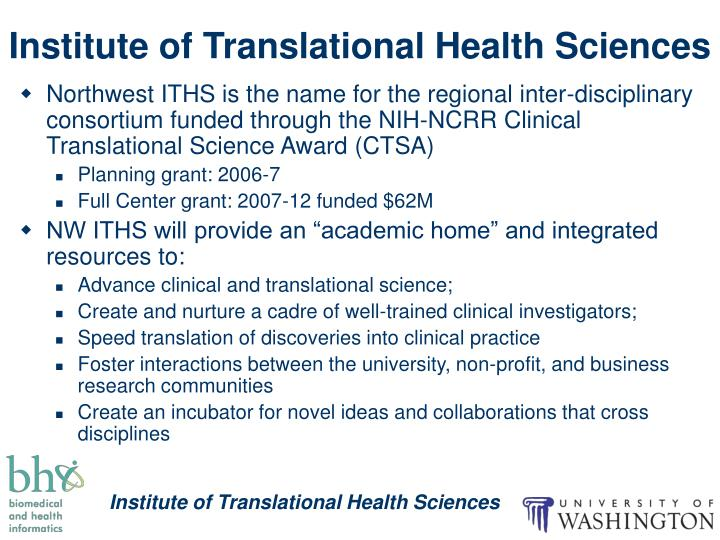 Institute of Translational Health Sciences