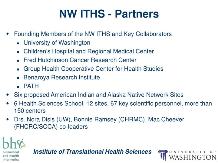 NW ITHS - Partners