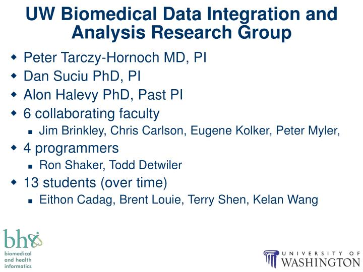 UW Biomedical Data Integration and Analysis Research Group