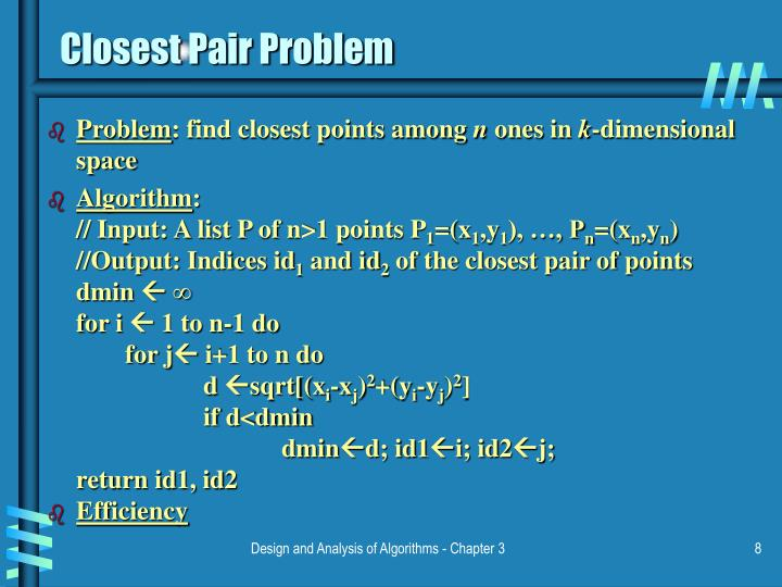 Closest Pair Problem