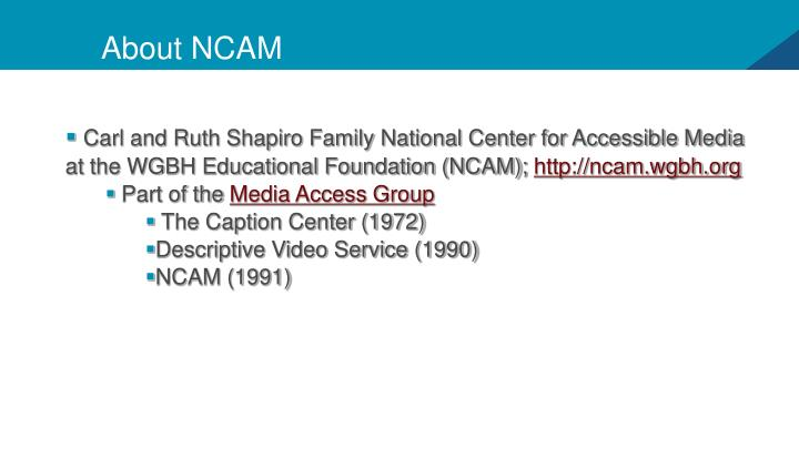 About ncam