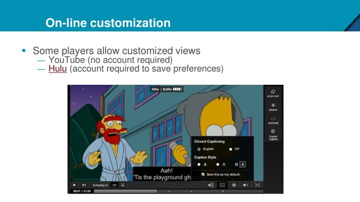 On-line customization