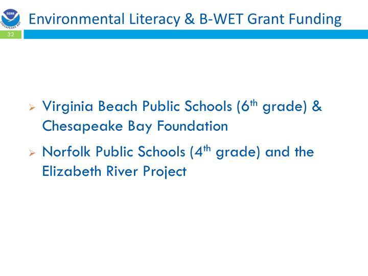 Environmental Literacy & B-WET Grant Funding