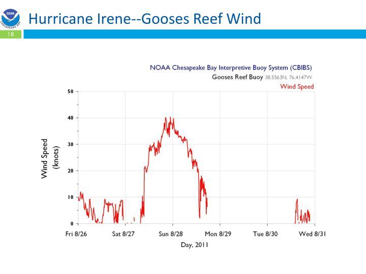 Hurricane Irene--Gooses Reef Wind