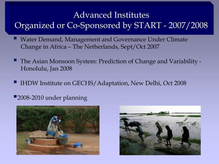Advanced Institutes