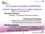 d un projet d valuation sumatra1