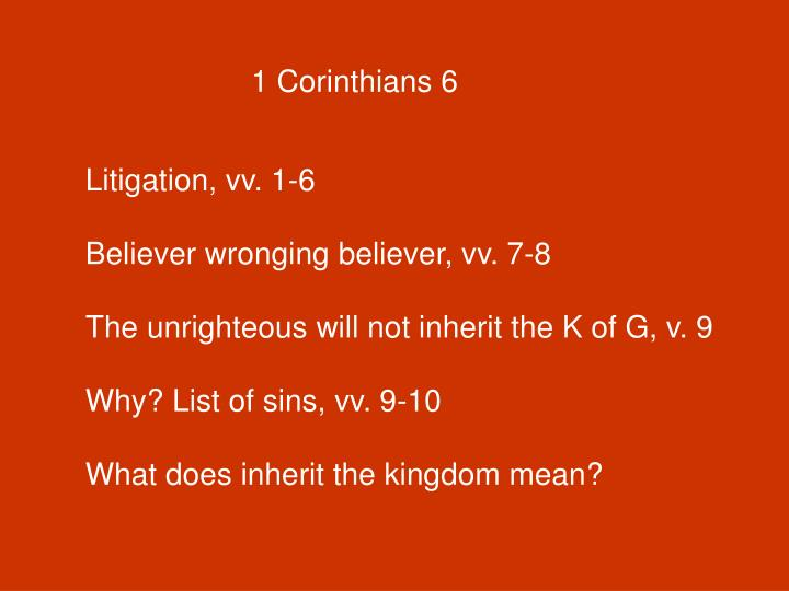 1 Corinthians 6