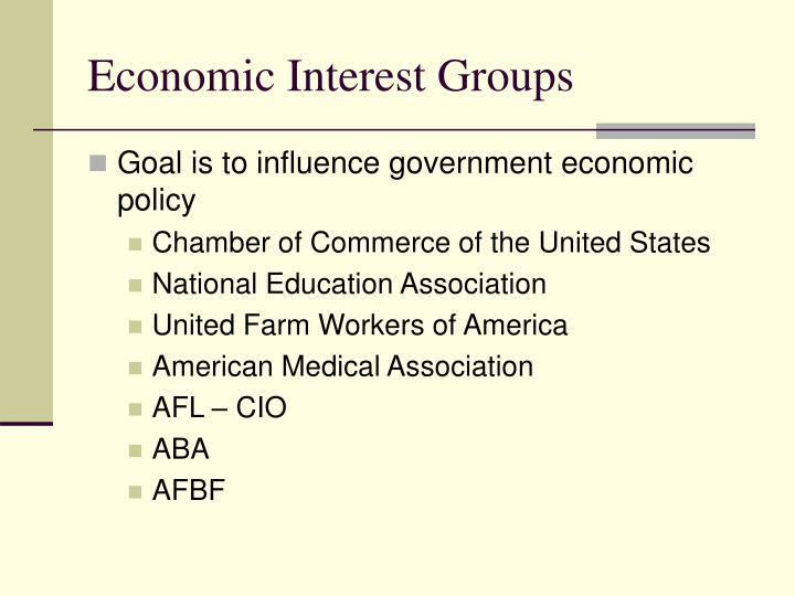 Economic Interest Groups