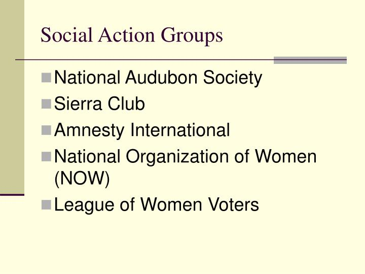 Social Action Groups