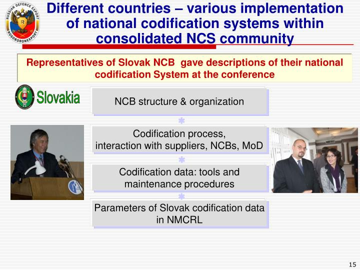 Different countries – various implementation of national codification systems within consolidated NCS community