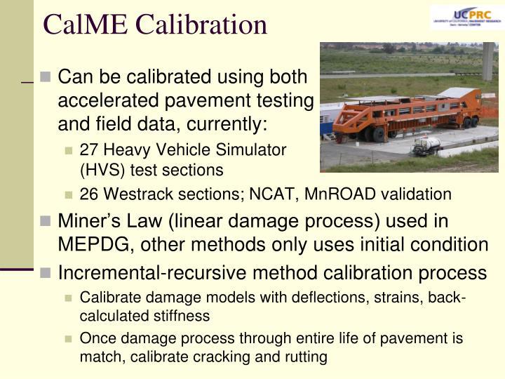 CalME Calibration