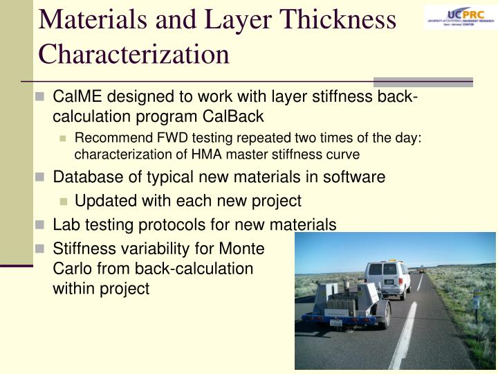 Materials and Layer Thickness Characterization