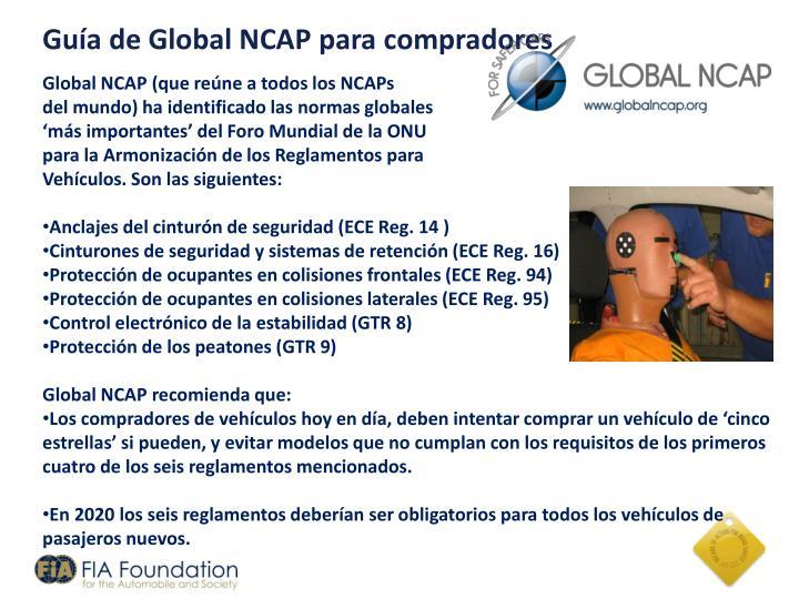 Guía de Global NCAP para compradores
