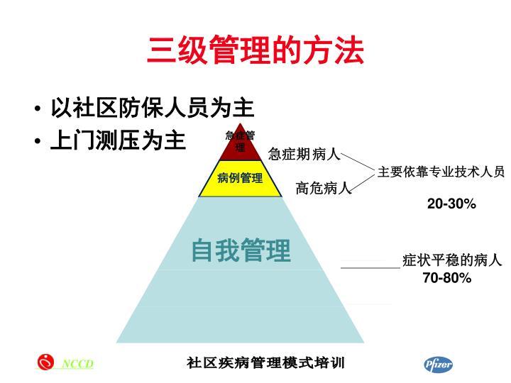 三级管理的方法