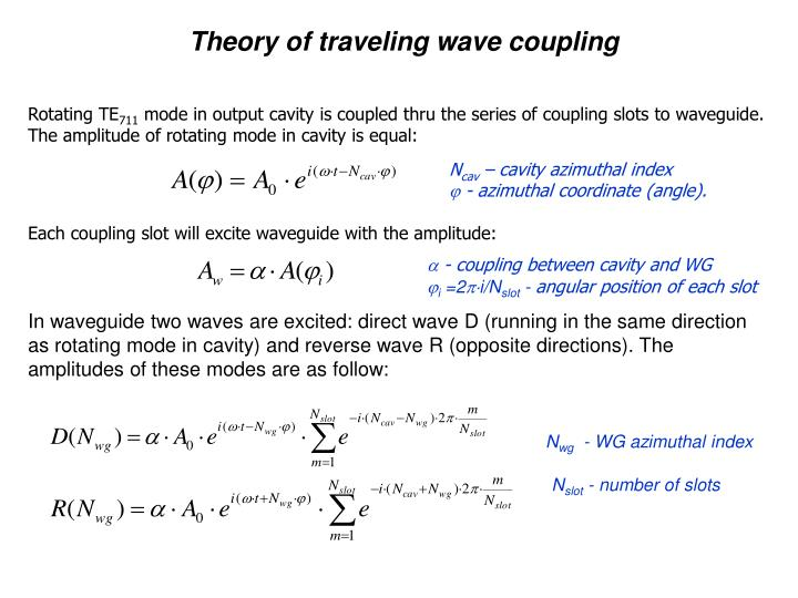 Theory of traveling wave coupling
