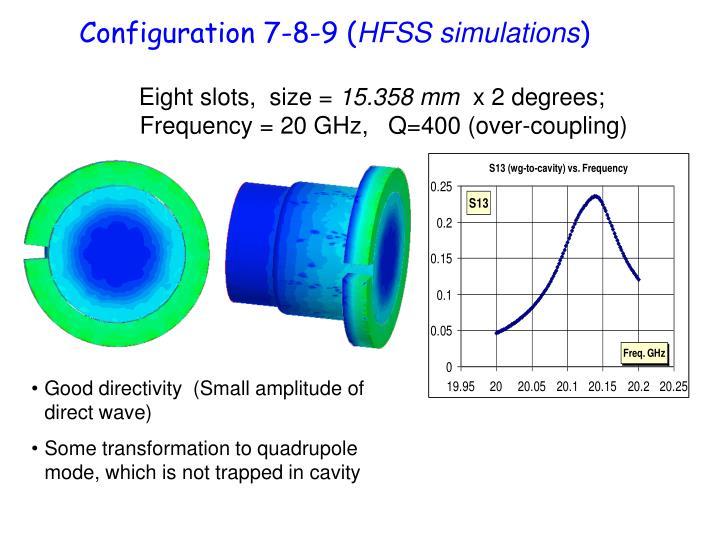 Configuration 7-8-9 (