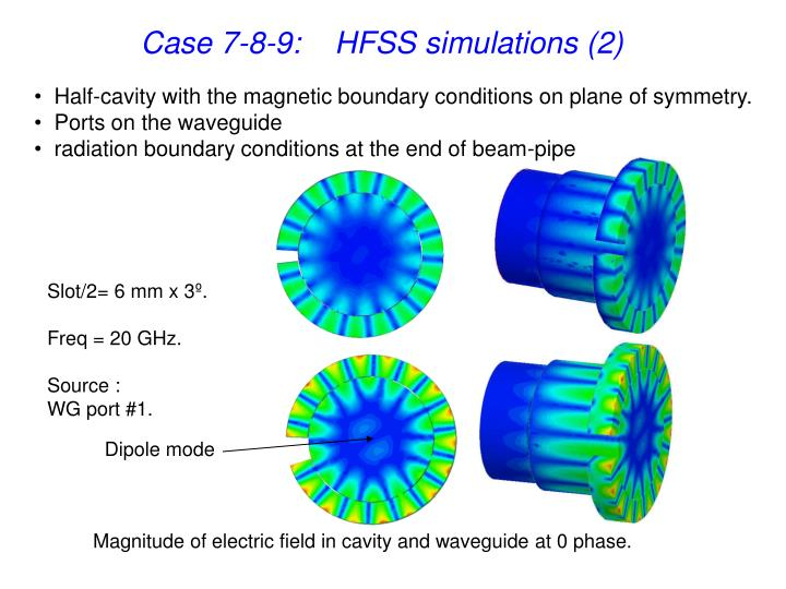 Case 7-8-9:    HFSS simulations (2)