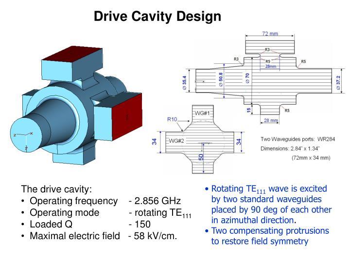 Drive Cavity Design