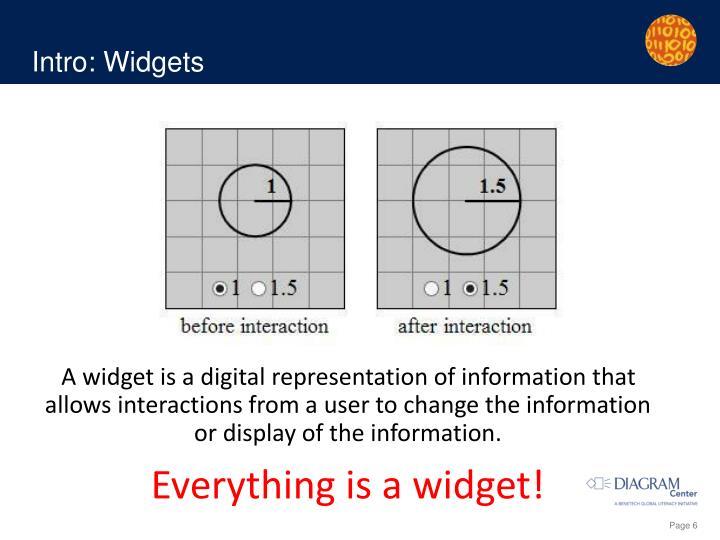Intro: Widgets