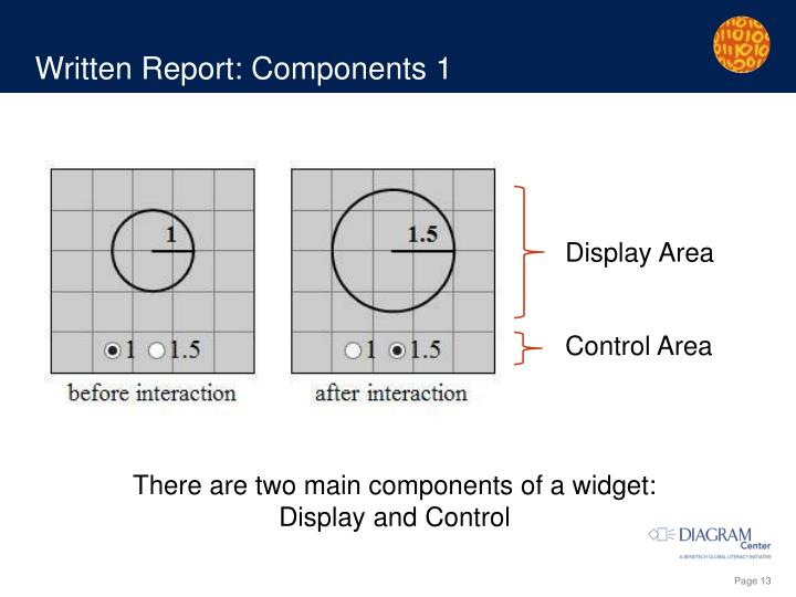 Written Report: Components 1