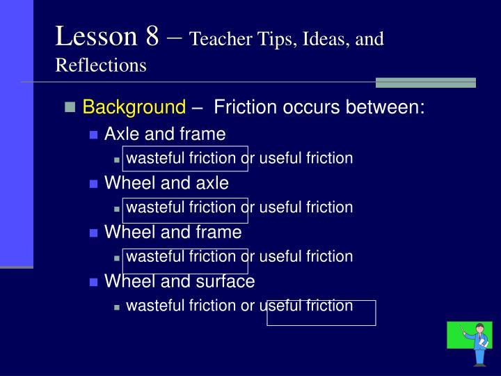 Lesson 8 –