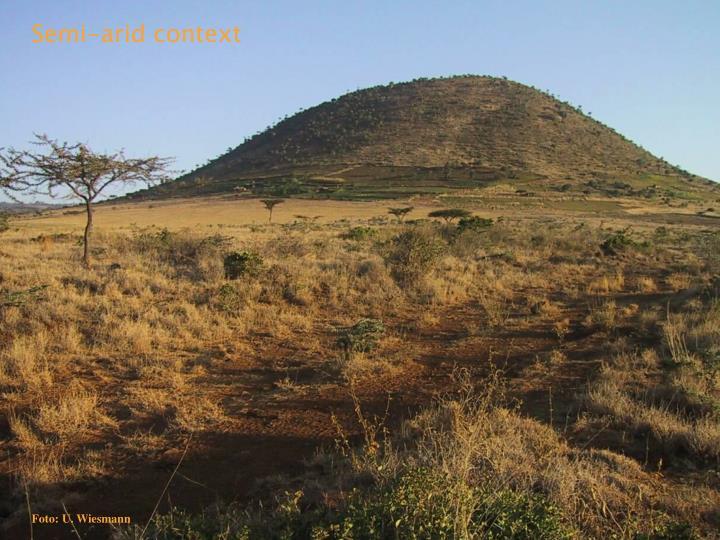 Semi-arid context