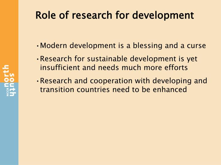 Role of research for development