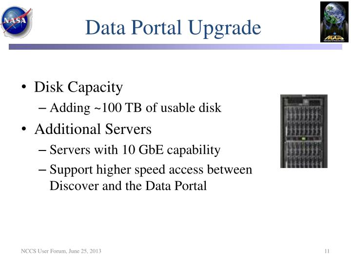 Data Portal Upgrade