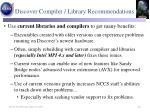 discover compiler library recommendations