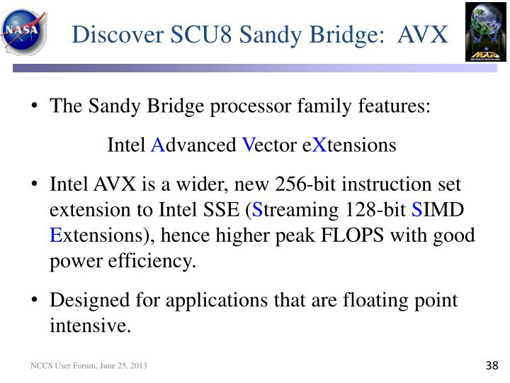 Discover SCU8 Sandy Bridge:  AVX