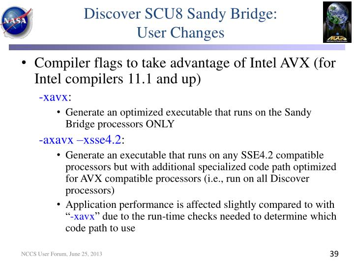 Discover SCU8 Sandy Bridge: