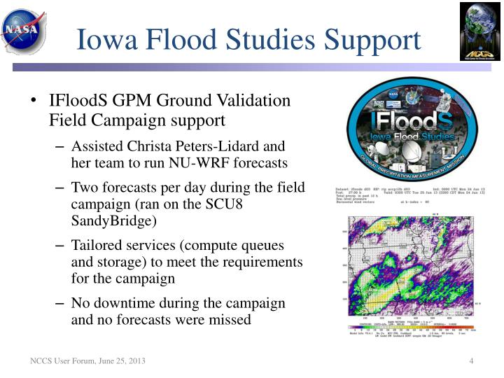 Iowa Flood Studies Support