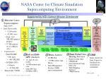 nasa center for climate simulation supercomputing environment