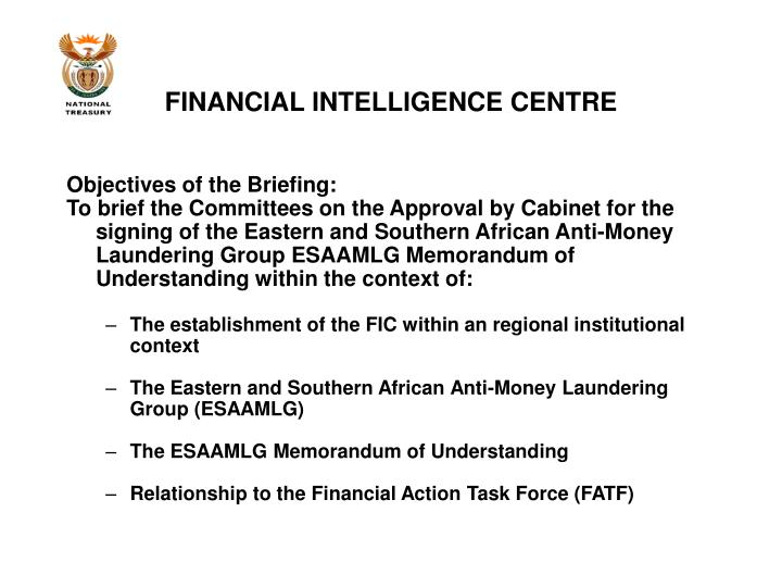 Financial intelligence centre1