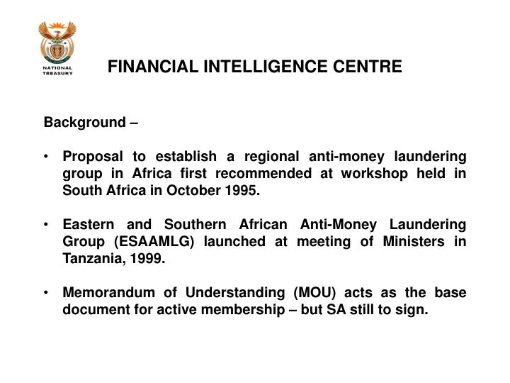 Financial intelligence centre2